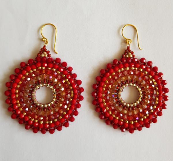 rode Ibiza oorbellen big