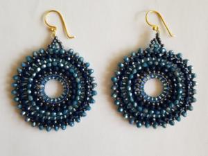 Blauwe Ibiza oorbellen