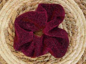 Glitter Scrunchie donker paars