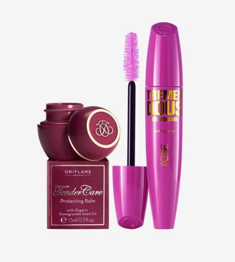 Mascara + tender care gift set